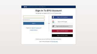Brigham Young University Sign-in Service - BYU