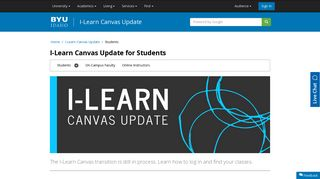 I-Learn Canvas Update for Students - BYU-Idaho