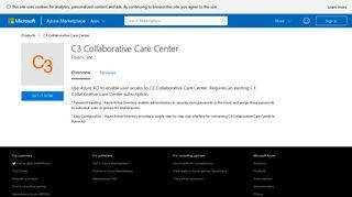 C3 Collaborative Care Center - Azure Marketplace - Microsoft