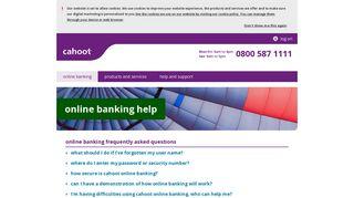 online banking help | Cahoot