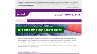 safe and sound with cahoot online | Cahoot