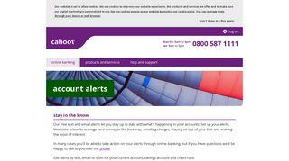 account alerts | Cahoot