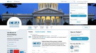 CA Board of Accountancy (@CBANews) | Twitter