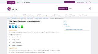 CPA Exam Registration & Scheduling - aicpa