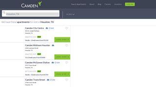 Houston, TX Apartments for Rent - CamdenLiving.com