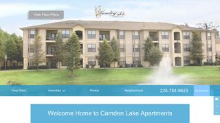 Camden Lake Apartments: East Baton Rouge, LA Apartments for Rent