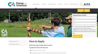 Camp America How to Apply | Camp America