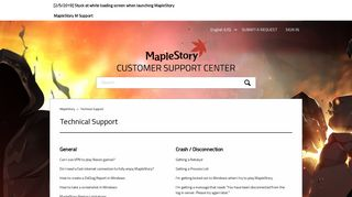 Technical Support – MapleStory