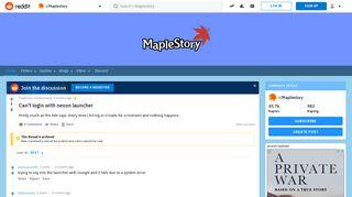 Can't login with nexon launcher : Maplestory - Reddit