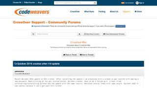 Quicken 2016 crashes after r14 update | Community Forums ...