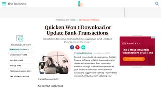 Quicken Won't Download or Update Bank Transactions - The Balance