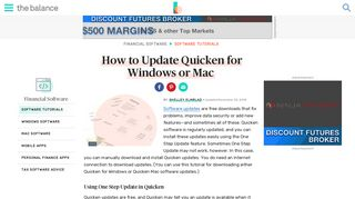 How to Update Quicken for Windows or Mac - The Balance