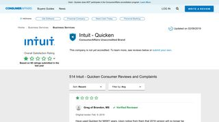 Top 508 Reviews and Complaints about Intuit - Quicken