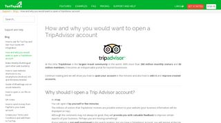 How and why you would want to open a TripAdvisor account - Turitop