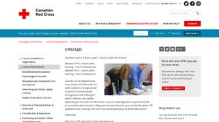 CPR/AED - Canadian Red Cross
