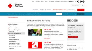 First Aid Tips and Resources - Canadian Red Cross