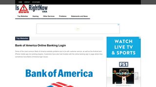 Bank of America Online Banking Login   Is Down Right Now USA