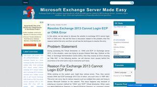 Resolve Exchange 2013 Cannot Login ECP or OWA Error