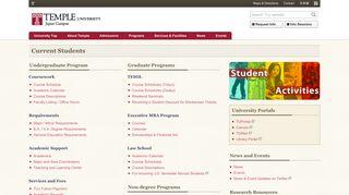 Current Students - Temple University, Japan Campus