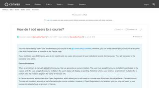 How do I add users to a course? | Canvas LMS Community