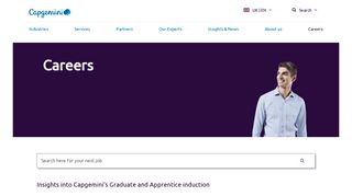 Jobs in outsourcing, technology, IT consultancy jobs with Capgemini