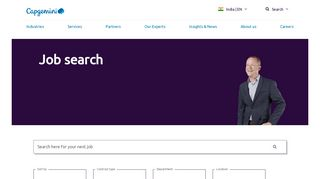 Search for jobs in outsourcing, IT consultancy ... - Capgemini