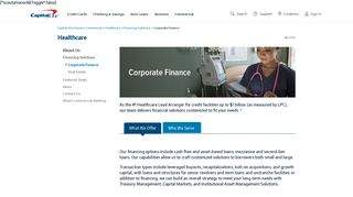 Healthcare Corporate Financing   Capital One Commercial Banking