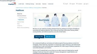 Healthcare Real Estate Financing   Capital One Commercial Banking