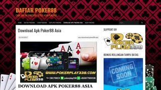Login Cara Poker88 Or Register New Account
