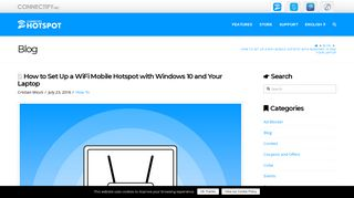 How to Set Up a WiFi Mobile Hotspot with Windows 10 and Your Laptop