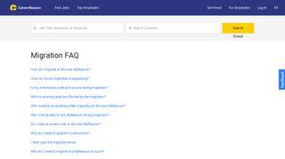 Migration FAQ | careerbeacon.com