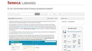 Can I demonstrate Career Cruising to prospective students ...