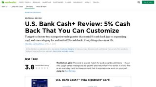U.S. Bank Cash+ Review: 5% Cash Back That You Can Customize ...