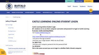 Jeffrey P. Filippelli / Castle Learning Online-Student Login