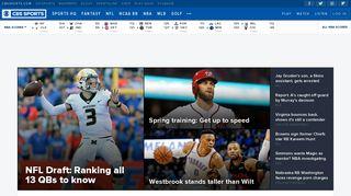 CBS Sports - News, Live Scores, Schedules, Fantasy Games, Video ...
