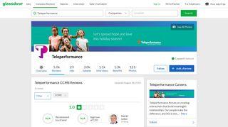 Teleperformance CCMS Reviews | Glassdoor