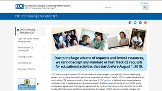 Continuing Education | CDC
