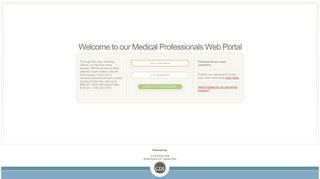 Medical Professionals Web Portal > Log On