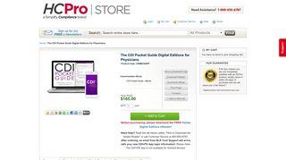 The CDI Pocket Guide Digital Editions for Physicians - HCPro