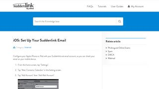 iOS: Set Up Your Suddenlink Email | Help Desk