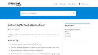 Android: Set Up Your Suddenlink Email | Help Desk
