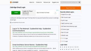 Cebridge Email Login