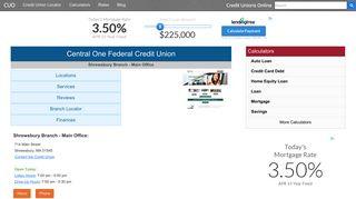 Central One Federal Credit Union - Shrewsbury, MA