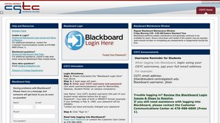Central Ga Tech – Blackboard Learn