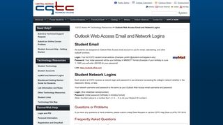 CGTC Technology | Outlook Web Acces Email and Network Logins