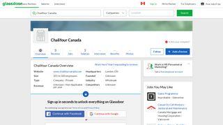 Working at Chalifour Canada   Glassdoor.ca