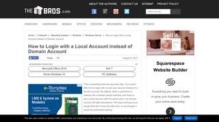 How to Login with a Local Account instead of Domain Account