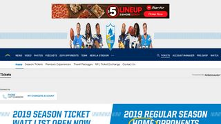 Tickets | Los Angeles Chargers