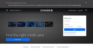 Online Account Access   Customer Service   Credit Card   chase.com