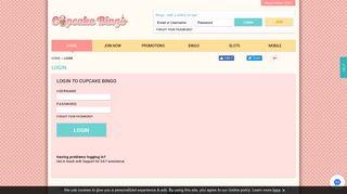 Cupcake Bingo   Login + Play All Your Favourite Online Bingo